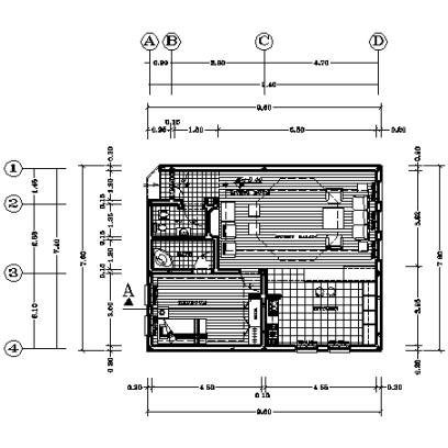 پلان ویلایی 72 متر مربع یک طبقه