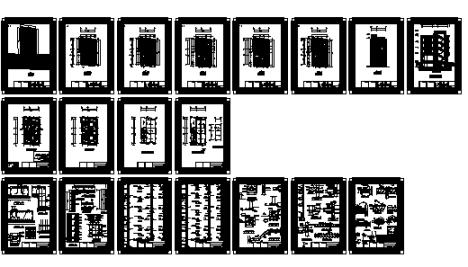 نقشه 5 طبقه تجاری مسکونی