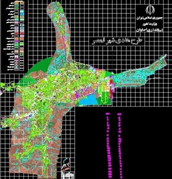نقشه کاداستر وهادی شهر قمصر