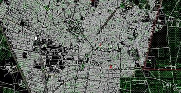 نقشه هوایی وکاداستر شهر آران و بیدگل
