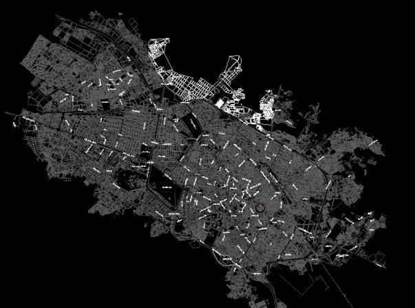 نقشه هوایی شهر مشهد