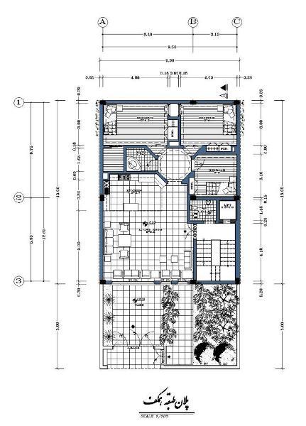 نقشه13X10شمالی-سازه بتنی