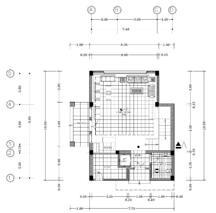 مجموعه نقشه های ویلای دوبلکس 80متری