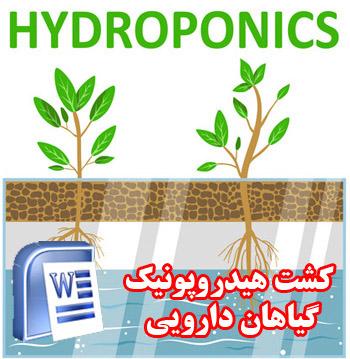 دانلود مقاله کشت گیاهان دارویی به روش هیدروپونیک - کشاورزی - word