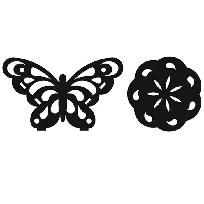 زیر لیوانی با طرح پروانه