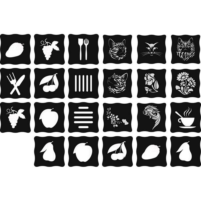 زیر بشقابی با طرحهای فانتزی (23 طرح)