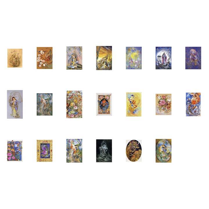 پوسترهای مینیاتور با کیفیت بالا ( بیست طرح ) مجموعه شماره 1