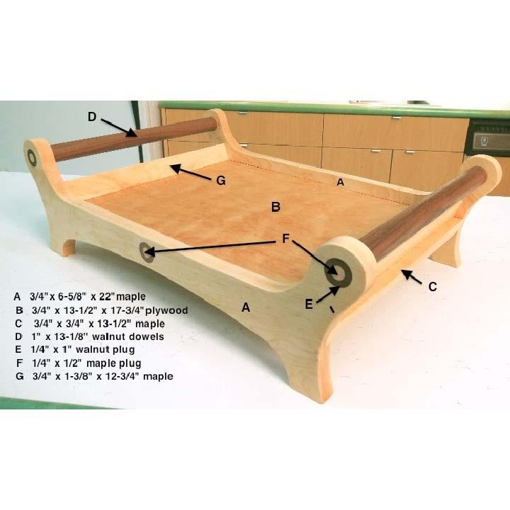 طرح سینی چوبی