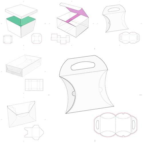 طرحهای بسته بندی (( وکتور ))  مجموعه شماره   1