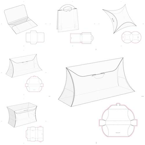 طرحهای بسته بندی (( وکتور ))  مجموعه شماره   2