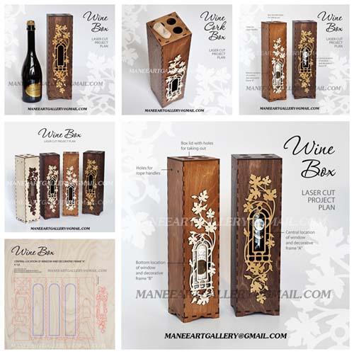 جعبه برای بسته بندی بطری طرح 1 . اسکرول ساو