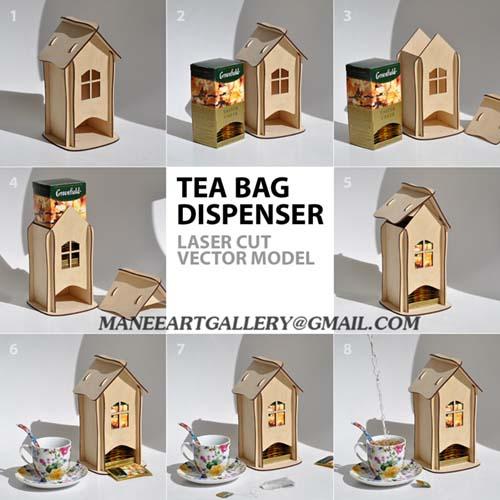 جعبه چای کیسه ای ( پذیرایی عصر )  . اسکرول ساو