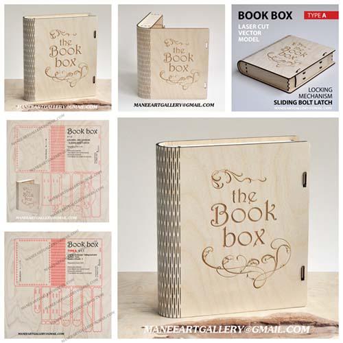 جعبه  به شکل کتاب   طرح شماره    1  . اسکرول ساو