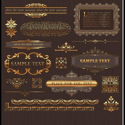 طرحهای لیبل و کادر بندی اسلیمی  مجموعه شماره   17
