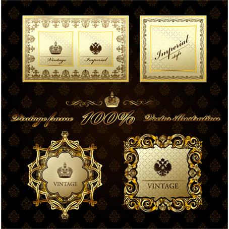 طرحهای لیبل و کادر بندی اسلیمی  مجموعه شماره   27