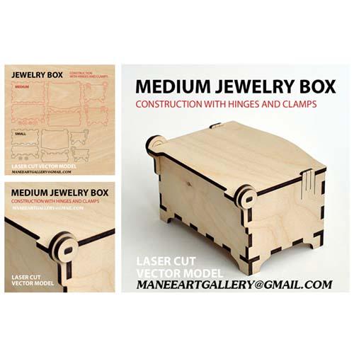 طرح وکتور برای لیزر : جعبه جواهر فانتزی