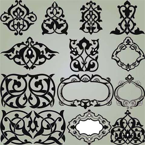 اسلیمی،وکتور،طرح،ایرانی،کرل /  مجموعه وکتور اسلیمی شماره 01A