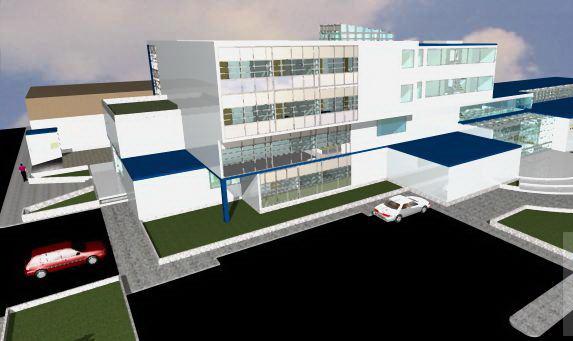 پروژه معماری بیمارستان قلب به همراه تصاویر سه بعدی