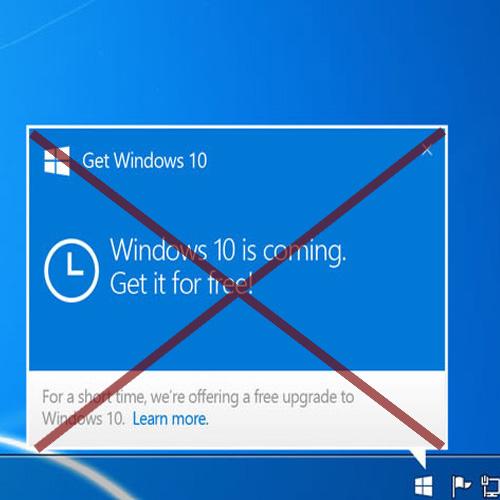 نرم افزار از بین بردن آلِرت آپدیت ویندوز 7 یا 8 به ویندوز 10