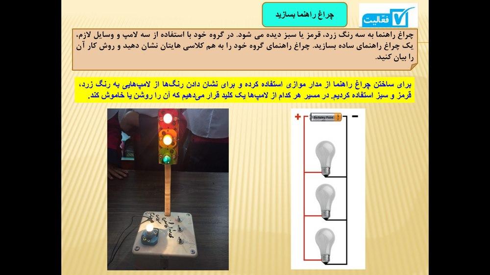 پاورپوینت آموزش درس چهارم کتاب علوم تجربی پایه چهارم ابتدایی ( انرژی الکتریکی )