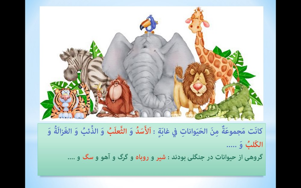 پاورپوینت آموزش لغت نامه و ترجمه متن درس پنجم عربی کلاس نهم ( درس الرّجاء )