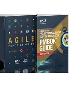 کتاب راهنمای دانش مدیریت پروژه پم باک 2017 PMBOK Guide Six + کتاب راهنمای عملی چابکی Agile Practice Guide
