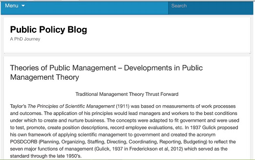 ترجمه مقاله : Theories of Public Management – Developments in Public