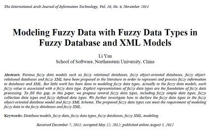 ترجمه مقاله انگلیسی: مدل سازی داده های فازی با انواع داده های فازی در پایگاه داده فازی و مدل ه