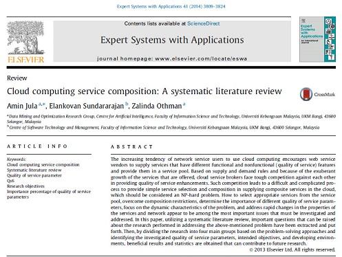 ترجمه مقاله انگلیسی:ترکیب خدمات محاسبه ابری: یک بررسی سیستماتیک سازمان یافته