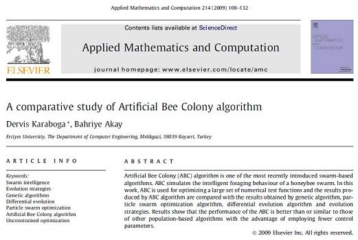 ترجمه مقاله انگلیسی: یک مطالعه تطبیقی از الگوریتم اجتماع زنبور مصنوعی