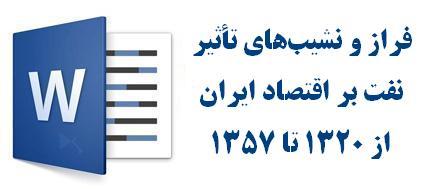فراز و نشیبهای تأثیر نفت بر اقتصاد ایران از ۱۳۲۰ تا ۱۳۵۷