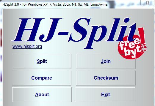 HJSplit(تکه تکه کردن فایل)