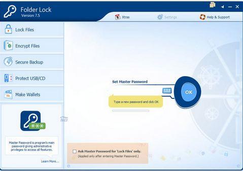 نرم افزار قفل گذاری بر روی پوشه ها و فایل ها -  Folder Lock 7.5