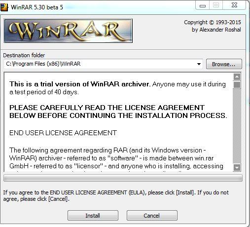 دانلود بهترین نرم افزار فشرده سازی WinRAR 5.30 Beta 5