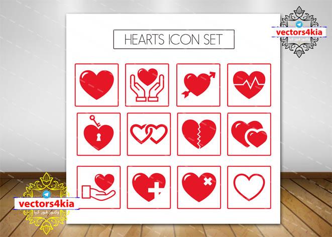 وکتور لوگوی قلب سلامتی -با فرمت های Ai-EPS-PNG-PSD