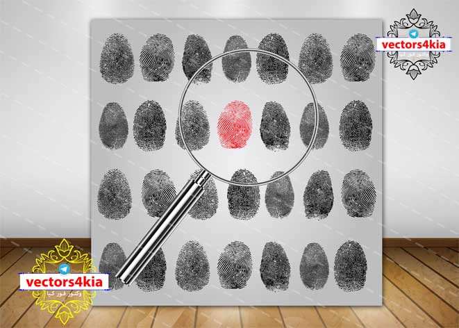 وکتور اثر انگشت - با فرمت هایAi-EPS-PNG-PSD
