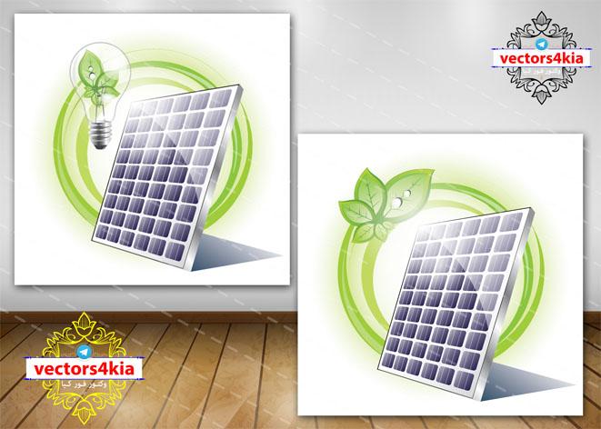 وکتور اینفوگرافیک انرژی خورشیدی - با فرمت های Ai-EPS-PSD-PNG