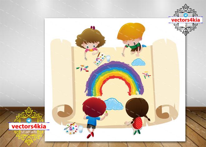 وکتور کودک و نقاشی (5) - با فرمت های Ai-EPS-PSD-PNG