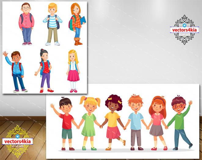 وکتور نوجوانان (1) - با فرمت های Ai-EPS-PSD-PNG