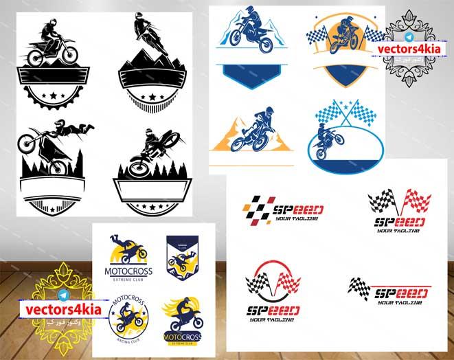 وکتور لوگو موتورسواری - با فرمت های Ai-EPS-PSD-PNG