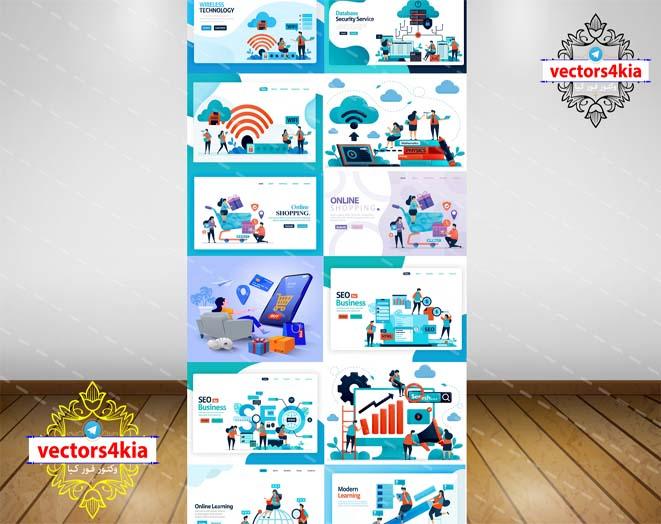 وکتور اینترنت و خرید اینترنتی (1) - با فرمت های Ai-EPS-PSD-PNG