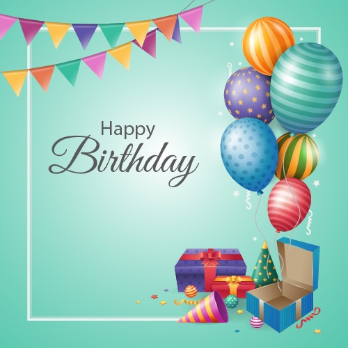 طرح لایه باز تم تولد - بنر جشن تولد کد 86
