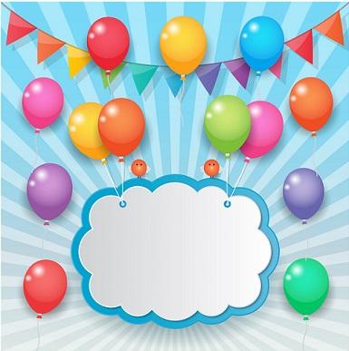 طرح لایه باز تم تولد - بنر جشن تولد کد 88