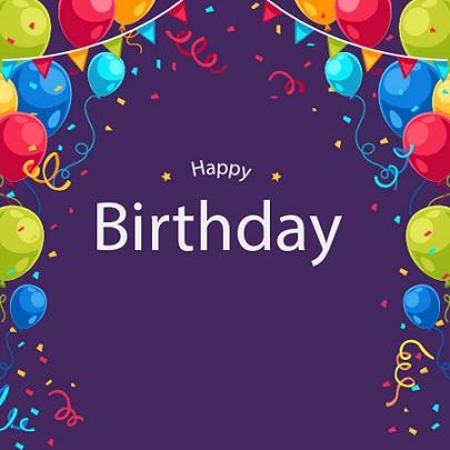 طرح لایه باز تم تولد - بنر جشن تولد کد 89
