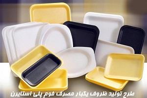 طرح توجیهی تولید ظروف یکبار مصرف فوم پلی استایرن