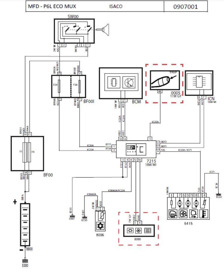نقشه های الکتریکی خودرو 206