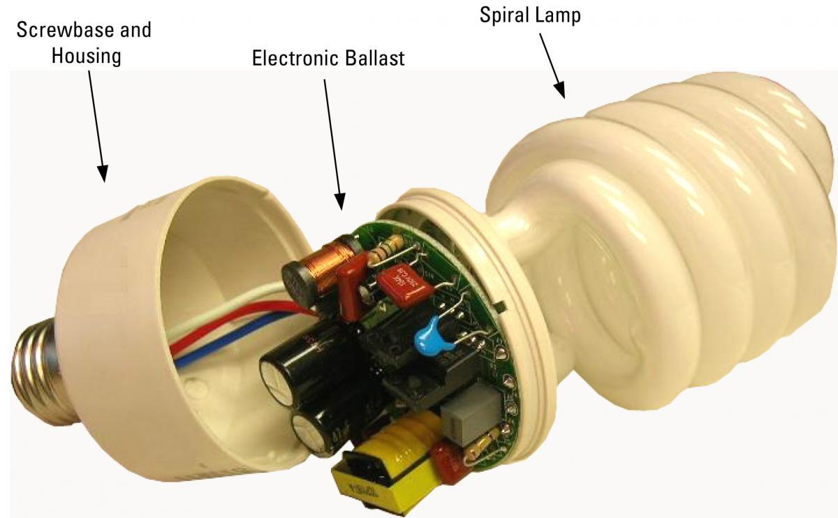 آموزش تعمير لامپ كم مصرف
