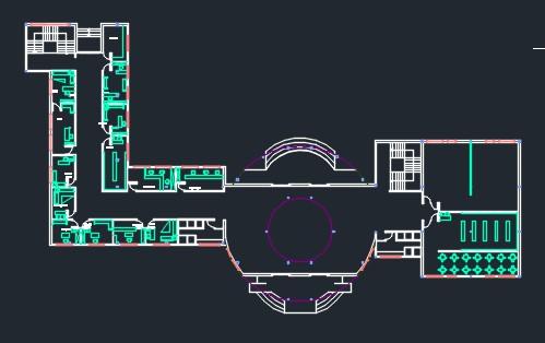 نقشه آماده دانشکده معماری (فایل dwg)