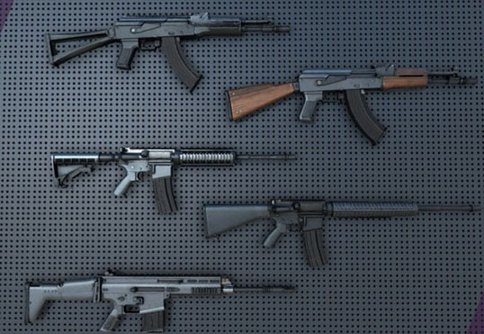 پکیج یونیتی Weapon Pack Assault Rifles