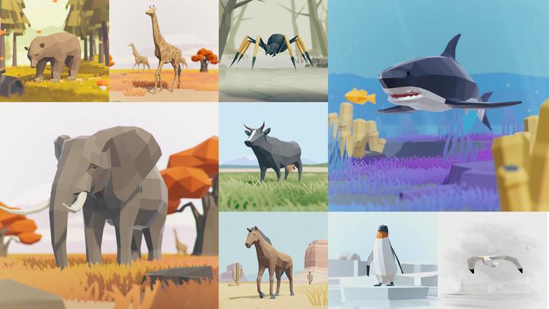 پکیج یونیتی Low Poly Animated Animals